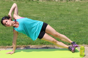 Side Plank Hip Drop: Part 1 Start in side plank with your arm below your shoulder.