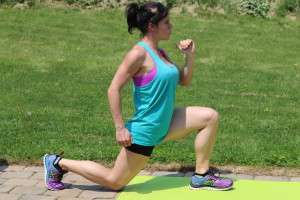 Hopping Lunges (Forward & Back): Part 1 Start in a Lunge Position.