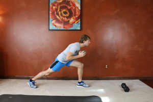 Runner's Lunge Crunch: Part 2