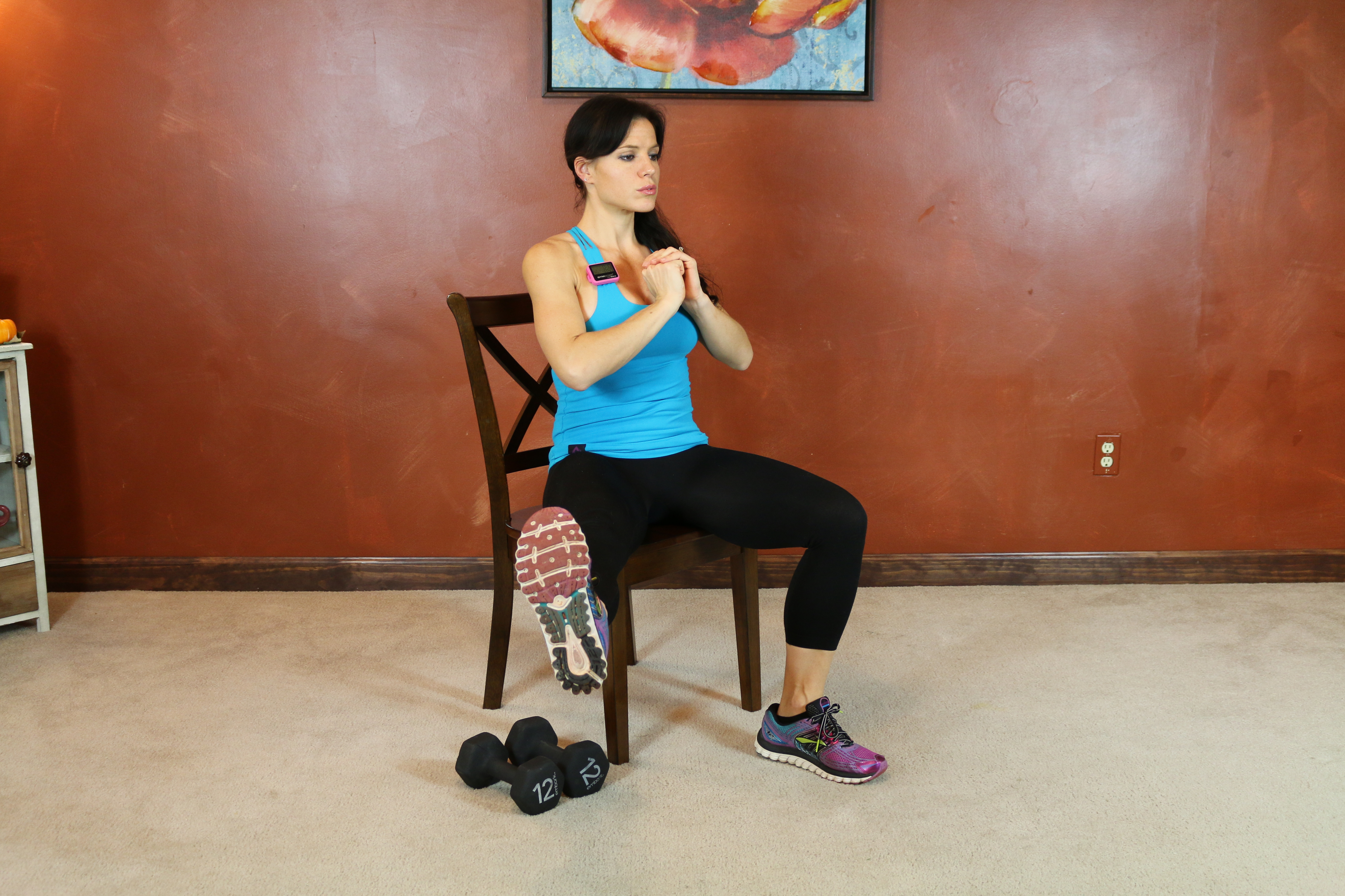 10 Minute Chair Workout Low Impact Arms Abs Legs