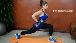 tricep row lunge