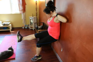 Wall Sit Leg Lift Crunch