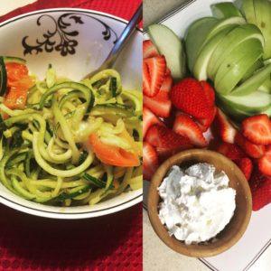 Zoodles, Fresh Fruit & Whipped Cream