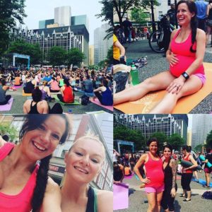 Great Yoga Class in Downtown Pittsburgh with Nicole. We also ran into my friend Ali!