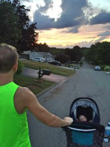 Sunset Walk with Jesse and Maverick.