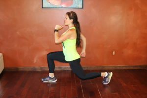 Lunge Jump or Lunge Squeeze Alternating (Modification)